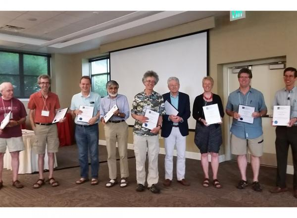 The inaugural class of the Society of Mathematical Biology Fellows.