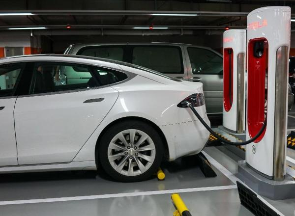 Tesla Vehicle: Photo credit CHANDAN KHANNA/AFP/Getty Images