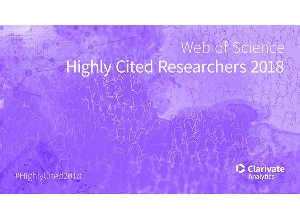 Clarivate Analytics Highly Cited Researchers 2018
